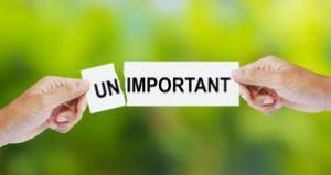 important-unimportant